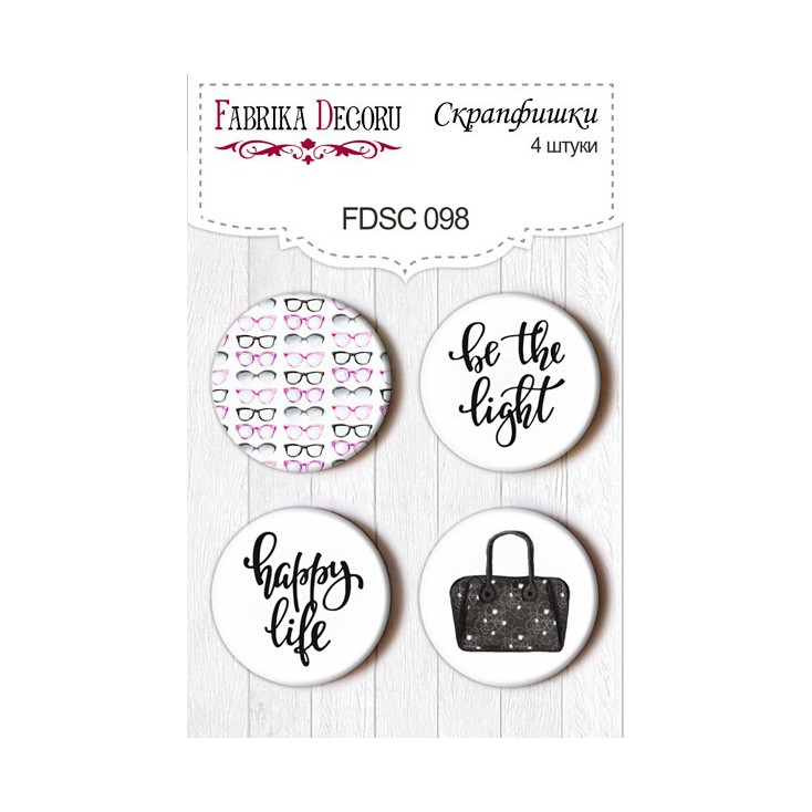 Selfadhesive buttons/badge - Fabrika Decoru - Especially for her 02