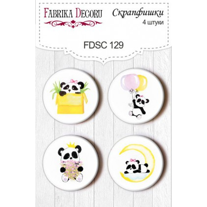 Selfadhesive buttons/badge - Fabrika Decoru -  My little girl 129