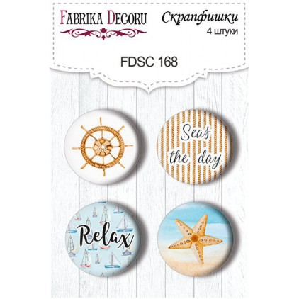 Selfadhesive buttons/badge - Fabrika Decoru - Sea Breeze 168