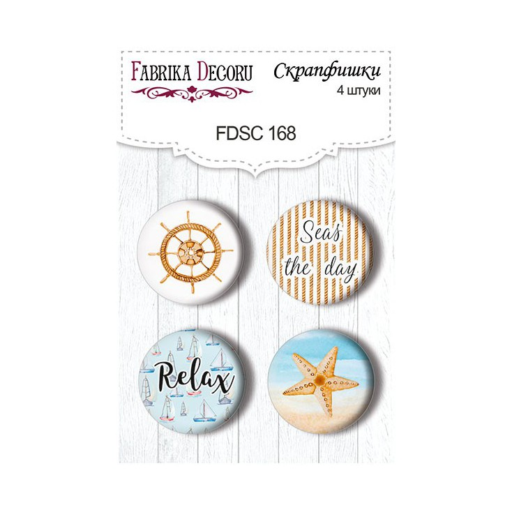 Selfadhesive buttons/badge - Fabrika Decoru - Sea Breeze 01