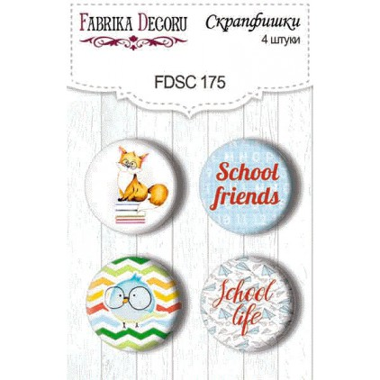 Selfadhesive buttons/badge - Fabrika Decoru - Cool shool 175