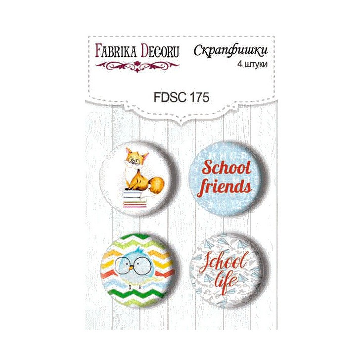 Selfadhesive buttons/badge - Fabrika Decoru - Cool shool 01