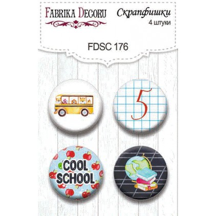 Selfadhesive buttons/badge - Fabrika Decoru - Cool shool 176