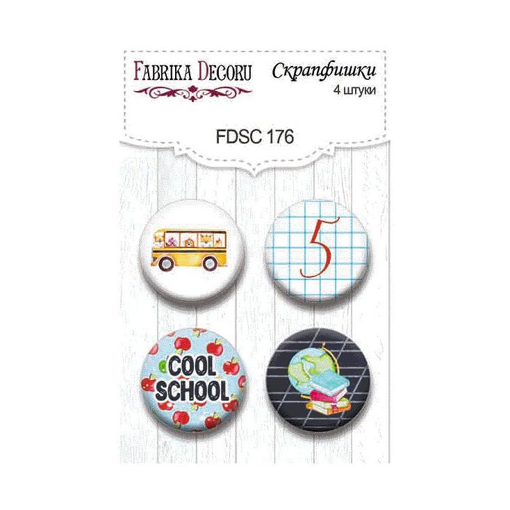 Ozdoby samoprzylepne, buttony - Fabrika Decoru - Cool shool 02