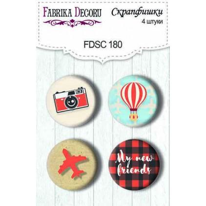 Ozdoby samoprzylepne, buttony - Fabrika Decoru - Europejskie wakacje 180