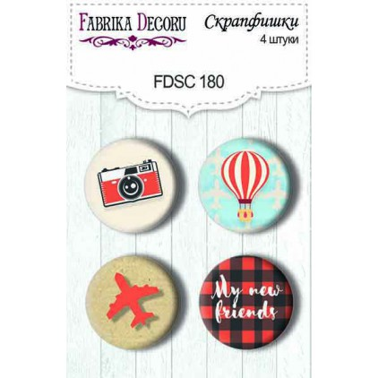 Selfadhesive buttons/badge - Fabrika Decoru - European Holidays 180