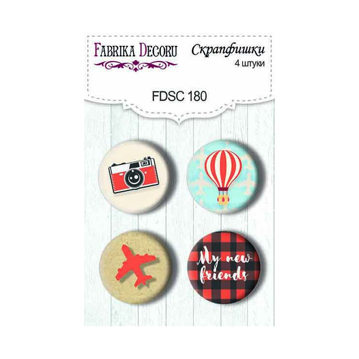 Selfadhesive buttons/badge - Fabrika Decoru - European Holidays 01