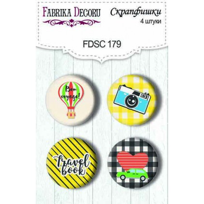 Selfadhesive buttons/badge - Fabrika Decoru - European Holidays 02