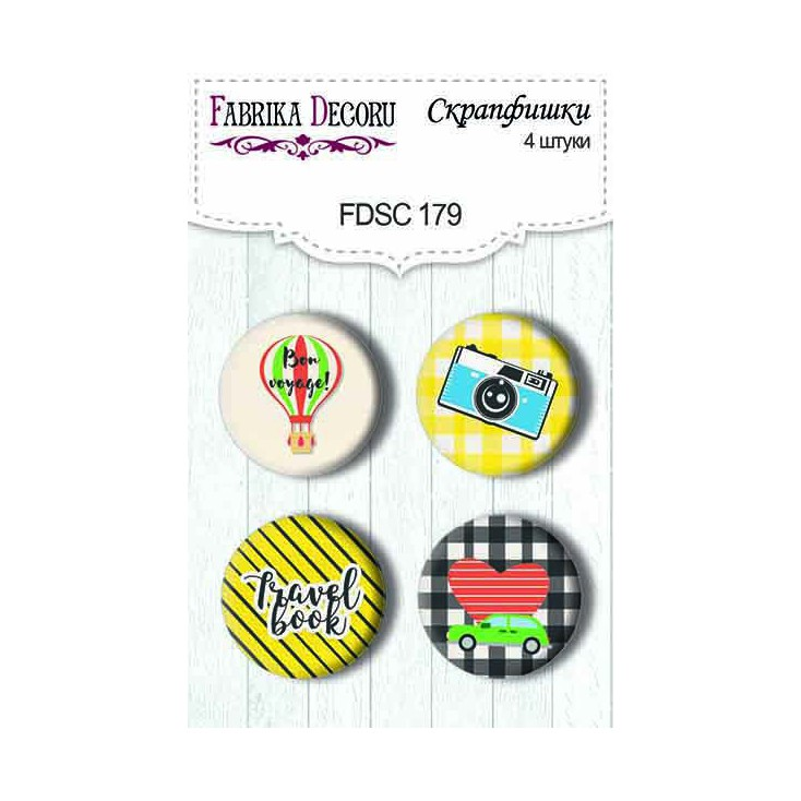 Selfadhesive buttons/badge - Fabrika Decoru - European Holidays 02