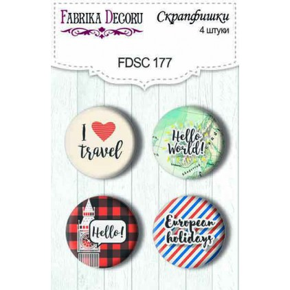 Selfadhesive buttons/badge - Fabrika Decoru - European Holidays 177