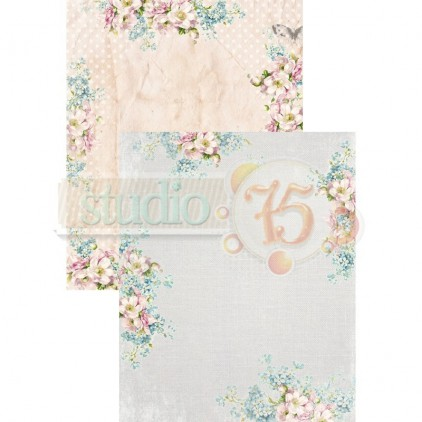 Scrapbooking paper - Studio 75 - Alice's dreams card