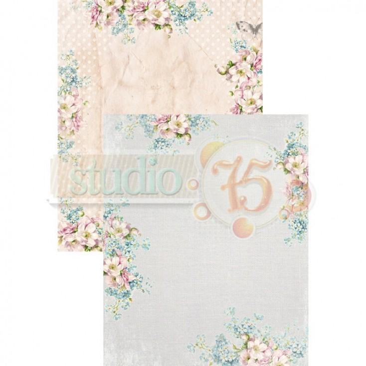 Scrapbooking paper - Studio 75 - Alice's dreams card