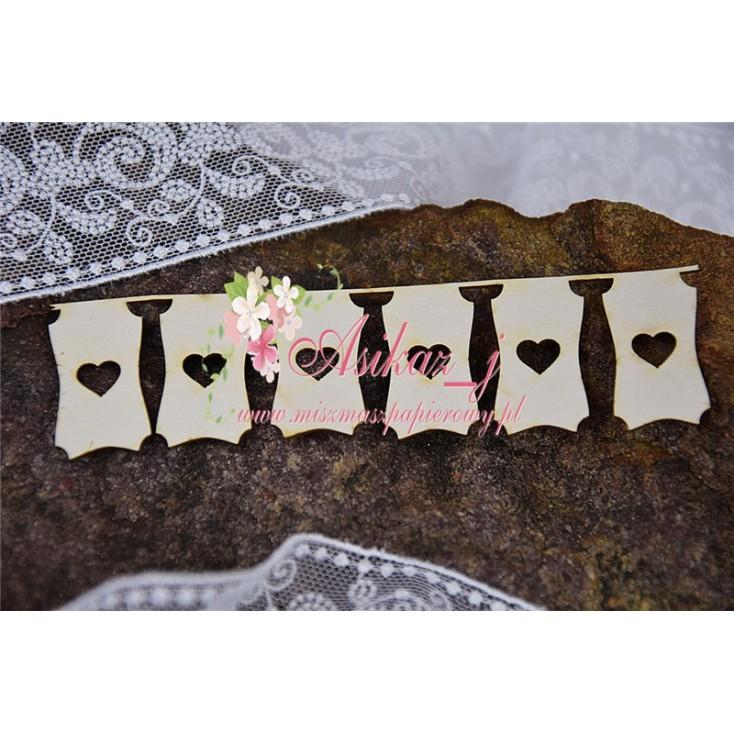 Miszmasz Papierowy - Cardboard element - bangle with hearts