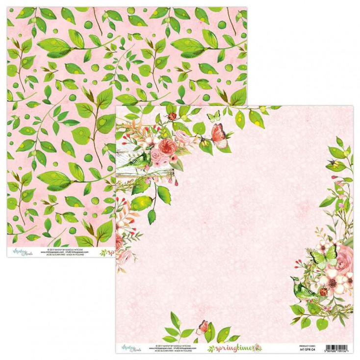 Papier kwiatowy - Papier do scrapbookingu - Mintay Papers - Wiosenny Czas 04
