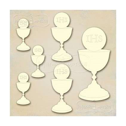 Latarnia Morska - Cardboard element - chalice with a host - 6 pcs.mix