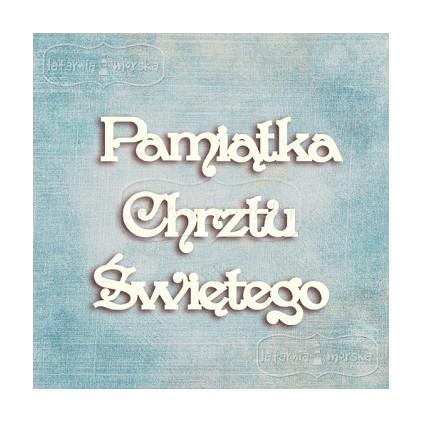 Latarnia Morska - Tekturka - napis Pamiątka Chrztu Świętego - 3 szt.