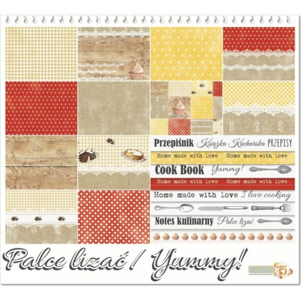 Set of scrapbooking papers - Studio 75 - Yummy A5 plus stripes