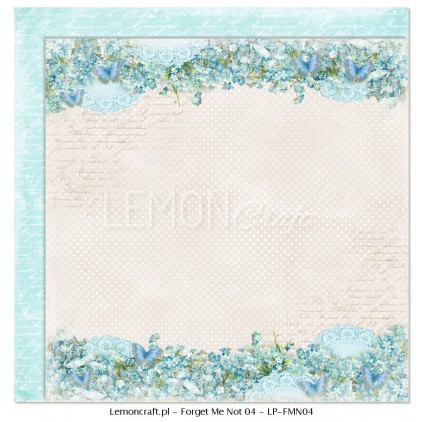 Double sided scrapbooking paper - Forget Me Not 04