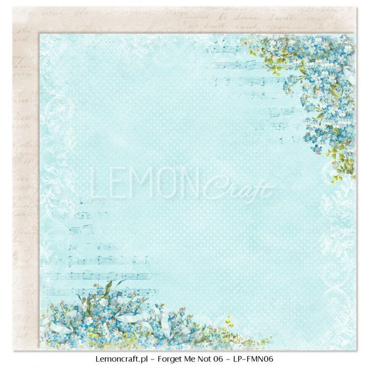 Double sided scrapbooking paper - Forget Me Not 06