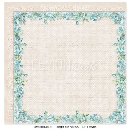 Double sided scrapbooking paper - Forget Me Not 05
