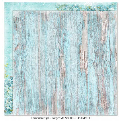 Double sided scrapbooking paper - Forget Me Not 03