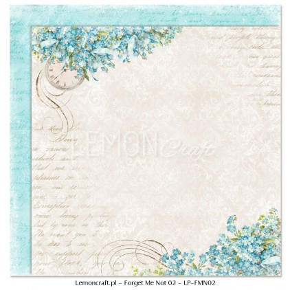 Double sided scrapbooking paper - Forget Me Not 02