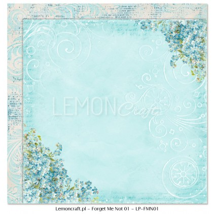 Double sided scrapbooking paper - Forget Me Not 01