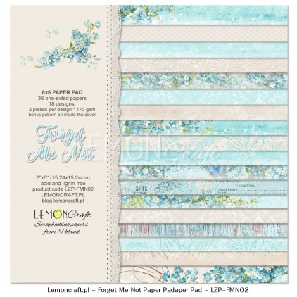 Pad of scrapbooking papers - Forget Me Not 6x6