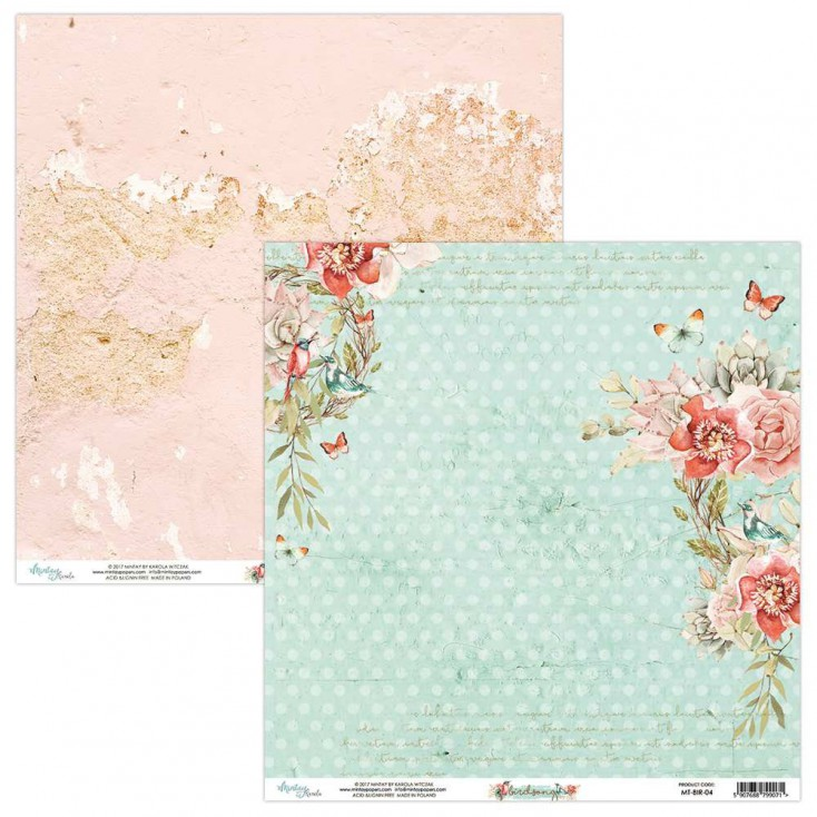 Scrapbooking paper - Mintay Papers - Bird Song 04