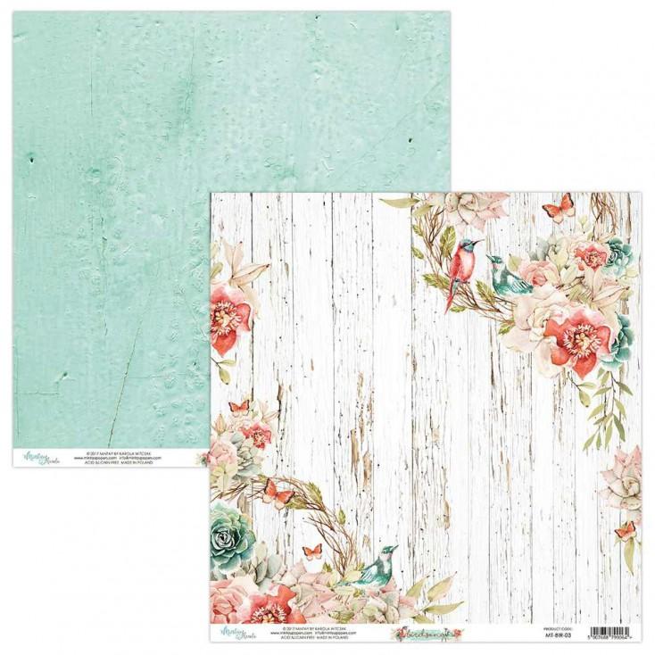 Scrapbooking paper - Mintay Papers - Bird Song 03