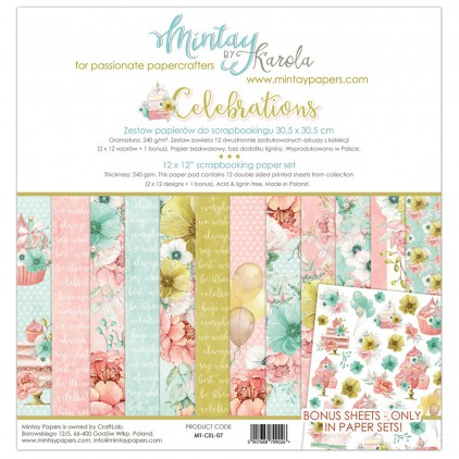 Scrapbooking paper set - Mintay Papers - Celebrations