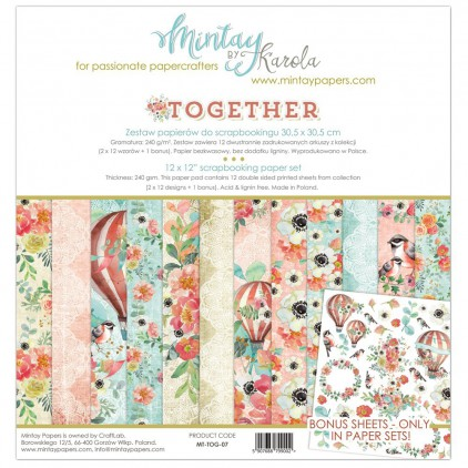 Scrapbooking paper set - Mintay Papers - Together