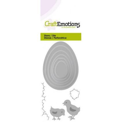 Wykrojnik do wycinania - Craft Emotions 115633/0206 - Jajka i kurczaki