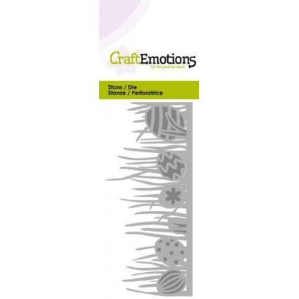 Craft Emotions 115633/0207 Die - Grass edge with easter eggs
