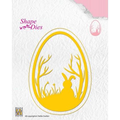 Wykrojnik do wycinania - Nellie's Choice SD125 - Wielkanocne jajko