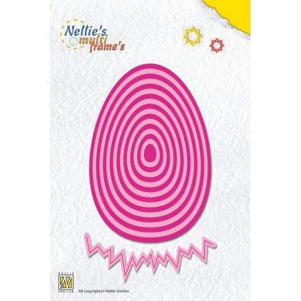 Nellie's Choice MFD089 Die - Straight Easter egg