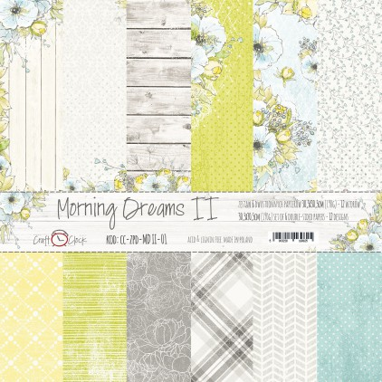 Set of scrapbooking papers - Craft O Clock - Morning Dreams II