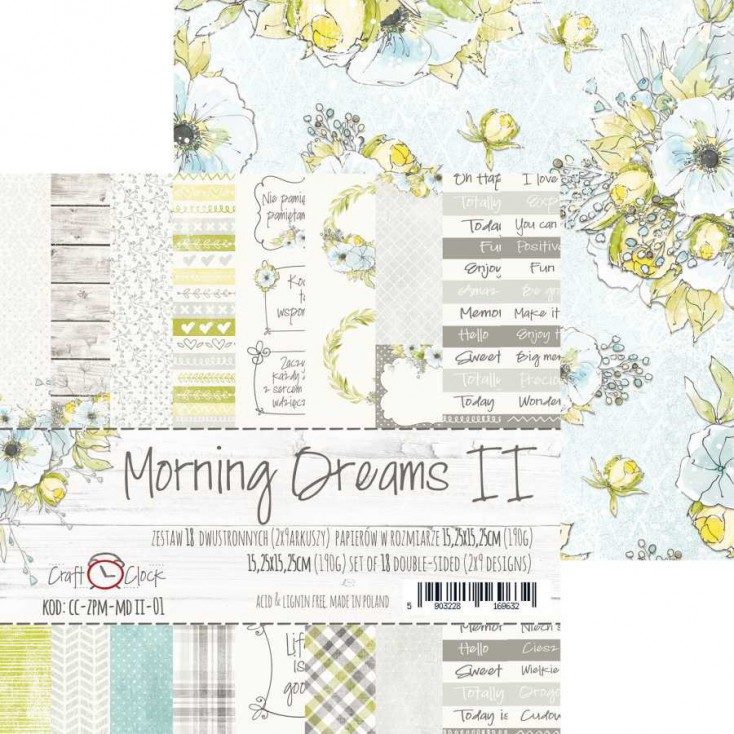 Pad of scrapbooking papers - Craft O Clock - Morning Dreams II
