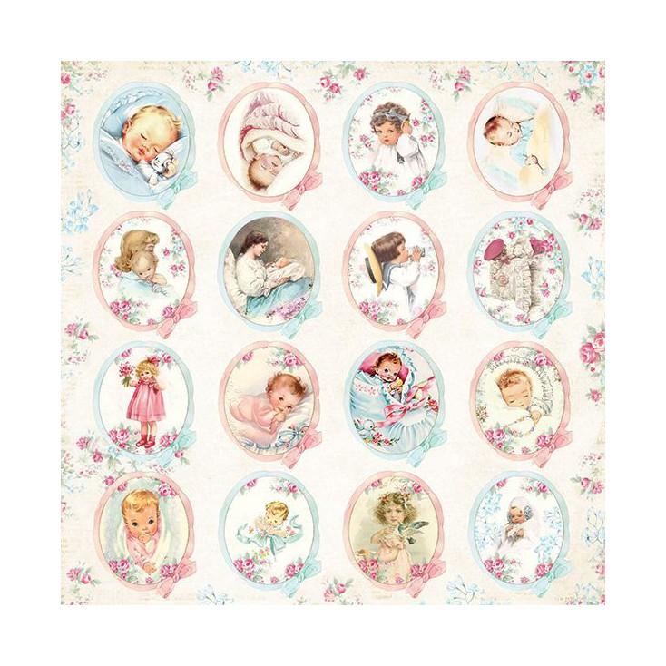 Papier z obrazkami ślicznych dzieciaczków - Craft and You Design - Papier do scrapbookingu - Shabby Babby 07
