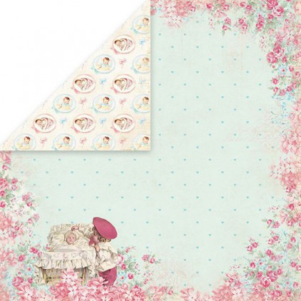 Papier z obrazkami retro - Craft and You Design - Papier do scrapbookingu - Shabby Babby 03