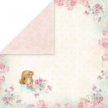 Papier z obrazkami retro - Craft and You Design - Papier do scrapbookingu - Shabby Babby 01