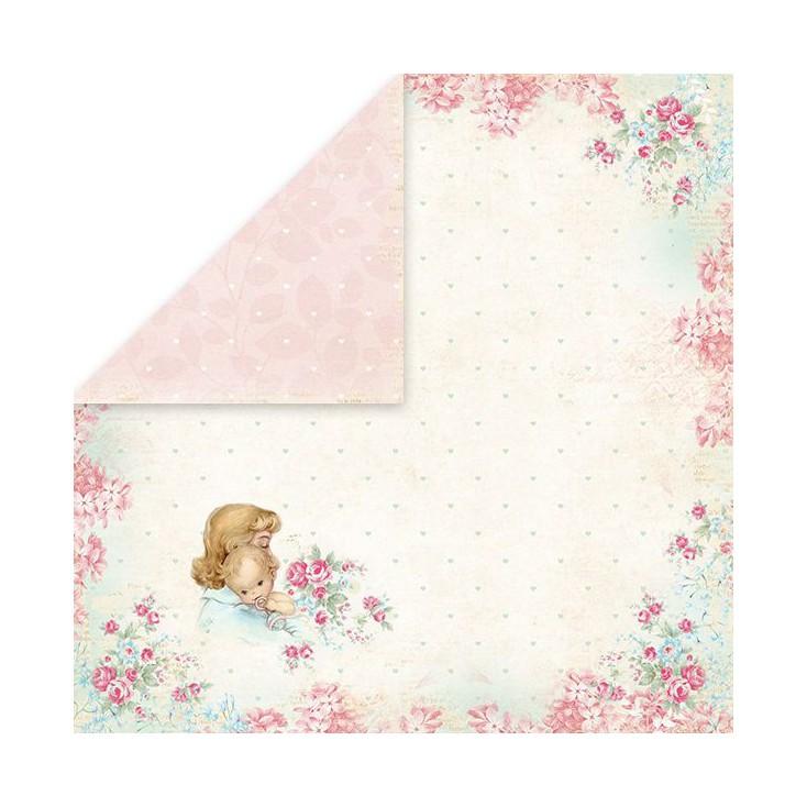 Papier z obrazkami retro - Craft and You Design - Papier do scrapbookingu - Shabby Babby 01