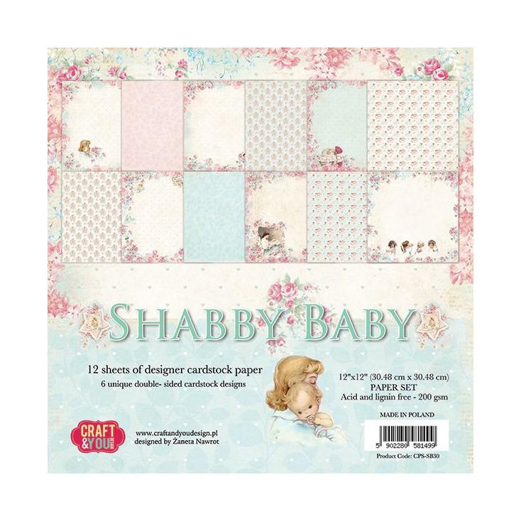 Zestaw papierów do scrapbookingu - Craft and You Design - Shabby Baby