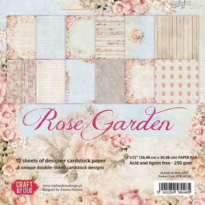 Zestaw papierów do scrapbookingu - Craft and You Design - Rose Garden