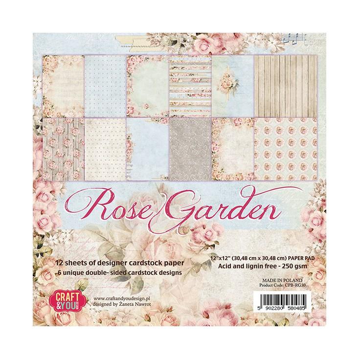 Zestaw papierów do scrapbookingu - Craft and You Design - Roses Garden