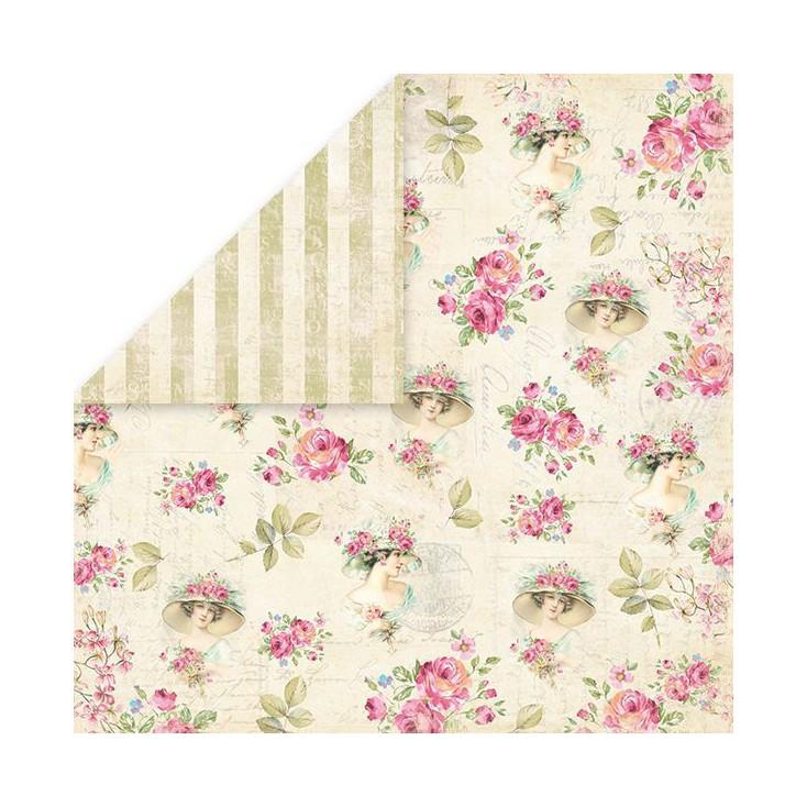 Papier z obrazkami retro - Craft and You Design - Papier do scrapbookingu - Belissima Rosa 06