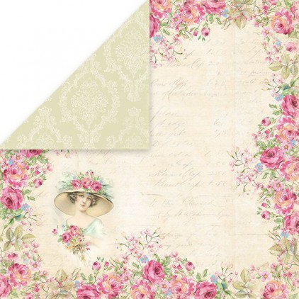 Papier z obrazkami retro - Craft and You Design - Papier do scrapbookingu - Belissima Rosa 04