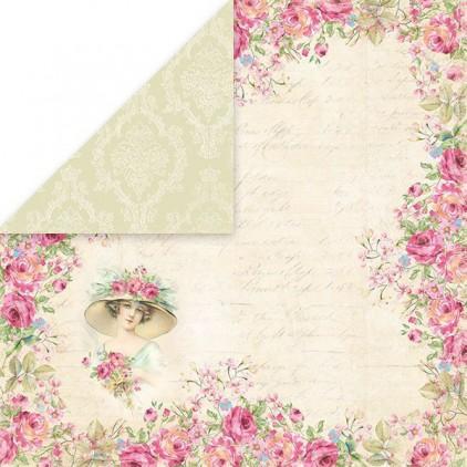 Papier z obrazkami retro - Craft and You Design - Papier do scrapbookingu - Belissima Rosa 04