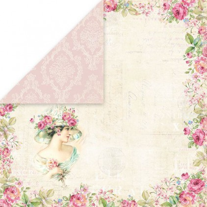 Papier z obrazkami retro - Craft and You Design - Papier do scrapbookingu - Belissima Rosa 01