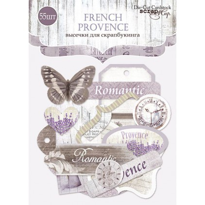 Set of die cuts - Scrap Mir - French Provence - 55pcs